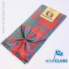 Pure wool mini sash in MacDonald of Keppoch ancient tartan - available from ScotClans