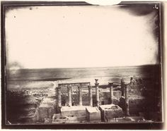 Columns, eastern part of the courtyard, Temple of Bel, Palmyra, Syria, Louis Vignes, 1864