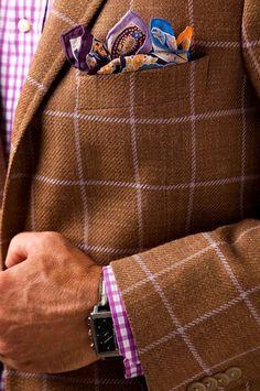 A fabulous modern tweed windowpane check here.