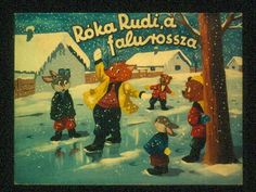 Róka Rudi, a falurossza Diy And Crafts, Teaching, Painting, Winter, Painting Art, Education, Paintings, Draw, Learning