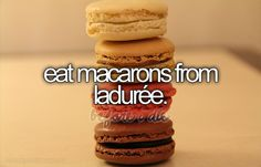 eat macarons from laduree.