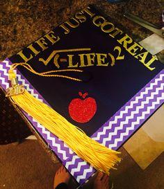 Math teacher graduation cap