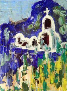 """Saatchi Online Artist Paul Costin; Painting, """"Troita"""" #art June 2012, 18×24 cm, oil on canvas, palette knife technique"""