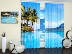 Digital Printing and Colorful Photo Curtains Bringing Modern Art into Interior Decorating