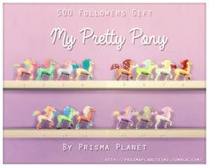 Rainbow pony toys at Prisma Planet via Sims 4 Updates My Pretty Pony, Muebles Sims 4 Cc, Sims 4 Clutter, Sims 4 Toddler, Rainbow Decorations, Sims 4 Cc Furniture, Toy House, The Sims 4 Download, Sims 4 Build