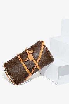 Vintage Louis Vuitton Keepall Leather Bag