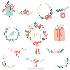 Holiday and Christmas Clip art for personal and by ReaniDesigns, $8.00
