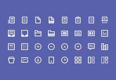 40 best free icon sets, Spring 2015 | Webdesigner Depot