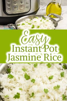 Easy Instant Pot Jasmine Rice So you got an instant pot and want to fix rice in it…but how? Well let me share with you this EASY Instant Pot Jasmine Rice Recipe. It is a hit in our household and so simple to make. Instant Pot Jasmine Rice Recipe, Jasmine Rice Recipes, Cooking Jasmine Rice, Best Instant Pot Recipe, Instant Pot Pressure Cooker, Pressure Cooker Recipes, Pressure Cooking, Slow Cooker, Crockpot Recipes