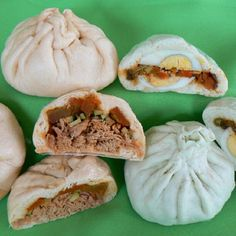 Banh Bao  Vietnamese Steamed bun stuffed with meat and vegetables