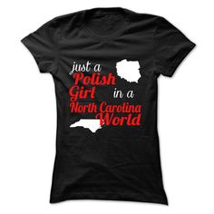 polish girls in North Carolina T-Shirts, Hoodies. SHOPPING NOW ==► https://www.sunfrog.com/LifeStyle/polish-girls-in-North-Carolina-Black-Ladies.html?id=41382