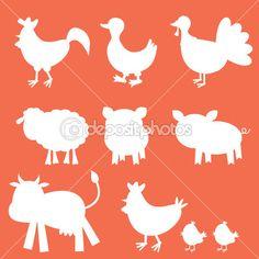 boerderijdieren om kalligrammen te maken