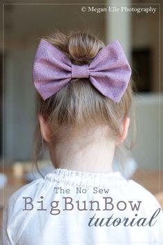 The Big Bun Bow | a no sew tutorial » megan elle