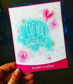 Check out Brooke Van Ogden's fun card she made using the Simon Says Stamp Hello Beautiful stamp! https://www.simonsaysstamp.com/product?id=339831