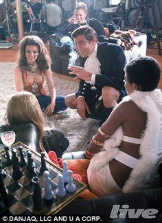 "Remember George Lazenby as Bond in the film ""On Her Majesty's Secret Service? Gentlemans Club, Scene Image, Scene Photo, Stunt Woman, Service Secret, George Lazenby, Bond Girls, Let Your Hair Down, James Bond"