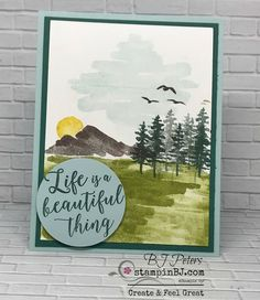 Waterfront Stamp Set by Stampin' Up! shared by BJ Peters @ StampinBJ.com
