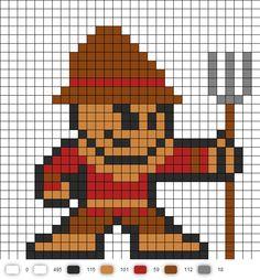 Scarecrow Perler Bead Pattern