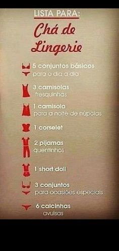 Lista do chá de lingerie