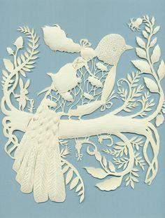 Elsa Mora paper cutting - girl riding a bird Kirigami, Paper Cutting, Cut Paper, Papercut Art, Grand Art, Paper Magic, Paper Artwork, Art Design, Paper Flowers