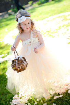 Cute flower girl dress   Larsen's Photography