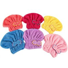 Womens Girls Lady's Magic Quick Dry Bath Hair Drying Towel Head Wrap Hat Makeup Cosmetics Cap Bathing Tool #Affiliate
