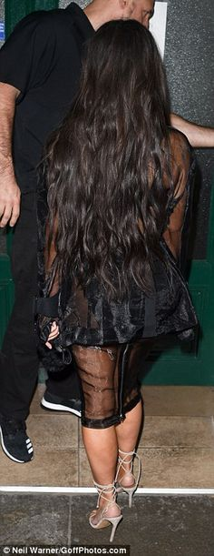 Bonjour Madame Kardashian! Kim sends temperatures rising as she flashes her lingerie in racy sheer two-piece as she heads to Balmain at PFW | Daily Mail Online