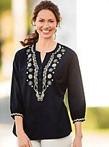 Beauty of Embroidery Top | Women's Tunic | Appleseeds