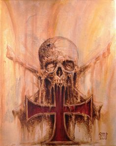 Templar cross, skull and crossed bones 01 by Stelf-2014 on DeviantArt
