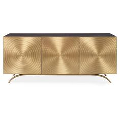 Val Modern Regency Gold Sideboard Cabinet ($5,988) ❤ liked on Polyvore featuring home, furniture, storage & shelves, door furniture, storage furniture, home storage furniture, brown furniture and media furniture