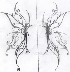 DeviantArt: More Like Fairy Wings by StargazerTats Wing Tattoo – Fashion Tattoos Fairy Wing Tattoos, Butterfly Wing Tattoo, Small Wing Tattoos, Wing Tattoos On Back, Butterfly Drawing, Tribal Butterfly, Make Tattoo, 1 Tattoo, Tattoo Drawings