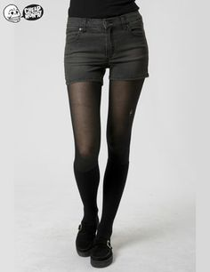 Womens Cheap Monday Spring Jeans Denim Shorts – Washed Black International Shipping