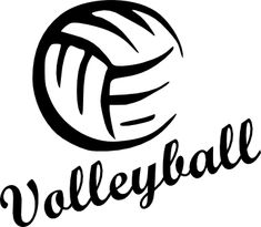 Printable Volleyball Stencil | Volleyball - SVG - Here