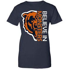 Believe in Monsters Chicago Bears Football Retro T Shirt Hoodie Long Sleeve  for Men Women ( 50306bfa6