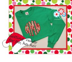 Holiday celebrations!!  Love the fun monogrammed and appliqued tee options at www.girlygearshop.com