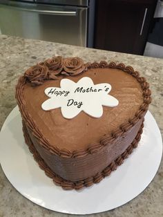 Mother's Day Chocolate cake with Mocha buttercream frosting.
