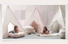 Rooms   Restoration Hardware Baby & Child....awesome tents and want to make those  floor cushions!