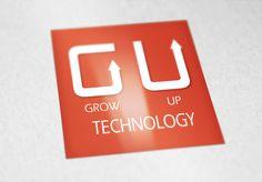 Logo criado por mim para minha (futura) própria empresa. Equipe animada para fazer ótimos projetos. Grow Up Technology.