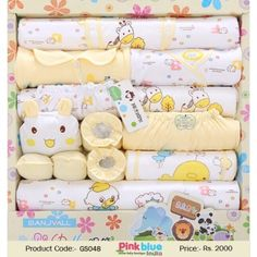 82d0b005717e5 Buy Online Little Newborn Gift Set of 16 pcs in Yellow and White