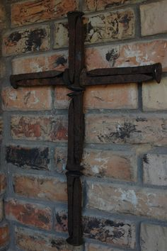 Railroad Spike Cross