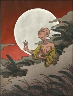 Te-no-me (手の目, てのめ)  Te-no-me first appears in Toriyama Sekien's Gazu Hyakki Yagyo. Unfortunately, this is another yokai for which Sekien didn't even write a single sentence about — just an illustration — and so his original intent is lost to the mists of time. However, other older stories exist which describe monsters fitting te-no-me's description, and perhaps it was these stories which Sekien based his yokai on.  Te-no-me takes the appearance of azato, a blind man. Back in the Edo…