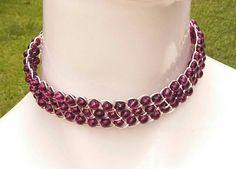 Check out this item in my Etsy shop https://www.etsy.com/listing/473805419/stylish-wire-choker-beaded-ooak
