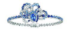 Sapphire diamond bracelet by Dior