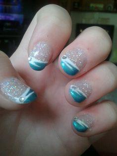 My beautiful prom nails xx