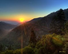 Sunset in the Smoky Mountains!