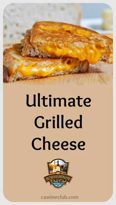 This grilled cheese is comfort food supreme. #recipe #cwc #cawineclub