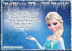 Free Disney Frozen Birthday Invitations ~ Frozen birthday invitation frozen birthday party frozen invite