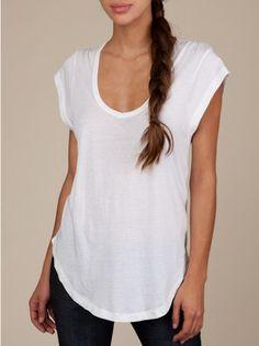 perfect white Tee. sleeveless/almost sleeveless