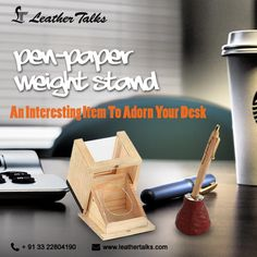 A very well designed desktop accessory that should definitely be a part of your office desk. Comes in a nicely built wooden box, this pen stand is equipped with metal ball bearings at the bottom to make it ideal for using as a paperweight. #idealcorporategift #leatherpenstand http://leathertalks.com/product/pen-paper-weight-stand/