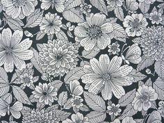 Vintage Stoffe - 70er Original Graziela Stoff Blumen - ein Designerstück von stoffshop bei DaWanda
