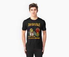 Dead Guys Rule Zombie and Brain Ice Cream Cone!  T-shirts and Stickers!